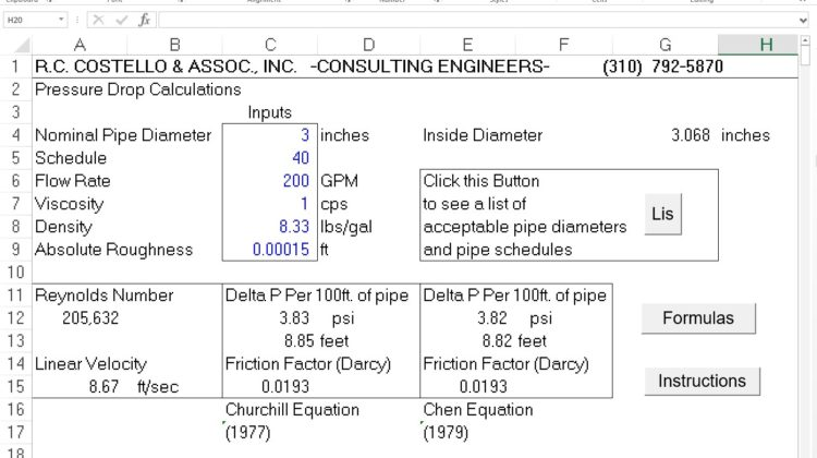 Pipeflow 3.0 – A Pressure Drop Calculator